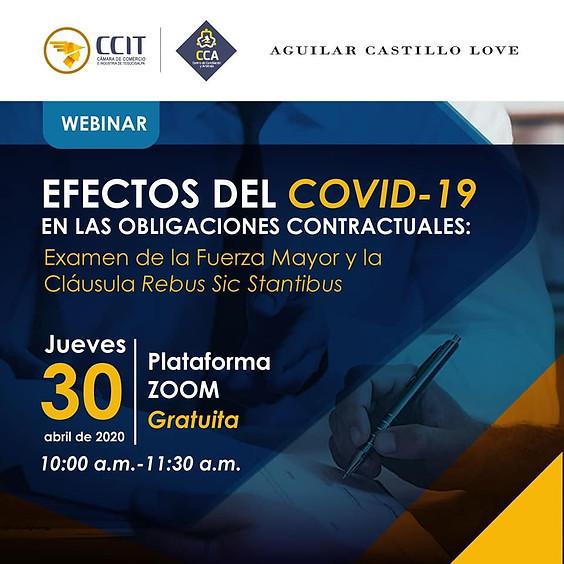 """Webinar """"Efectos del Covid-19 en las obligaciones contractuales"""