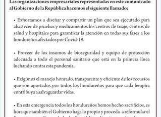 Organizaciones Empresariales hacen un llamado al Gobierno de la República