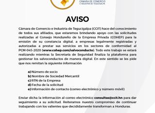 Apoyo a COHEP para emisión de constancias digitales