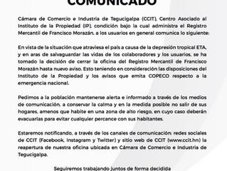 Comunicado cierre de oficinas de Registro Mercantil hasta nuevo aviso