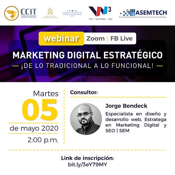 Webinar Marketing Digital Estratégico