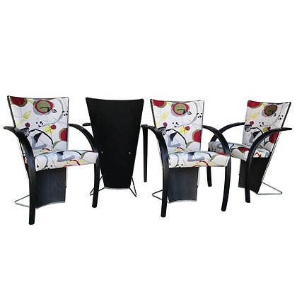 Set of 4 80s Modern Dining/Game Chairs by Westnofa