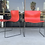 Thumbnail: Pair of Rare Red Handkerchief Chairs by Massimo Vignelli, 1985