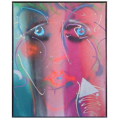 1980s Modern Monumental Original Painting Greg Copeland