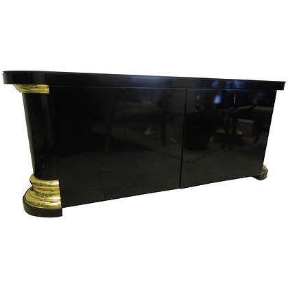 Mastercraft Black and Brass Vintage Hollywood Regency Sideboard