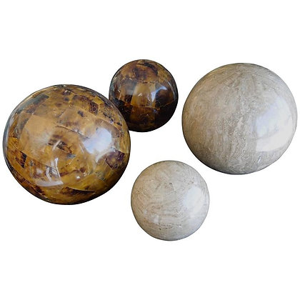 Set of 4 Spheres in Tesselated Stones by Maitland Smith