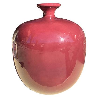 Large Berry Color Ceramic Vintage 1980s Jaru Jar/Vase