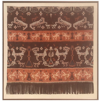 19th Century Indonesian Woven Art from Palm Springs Estate