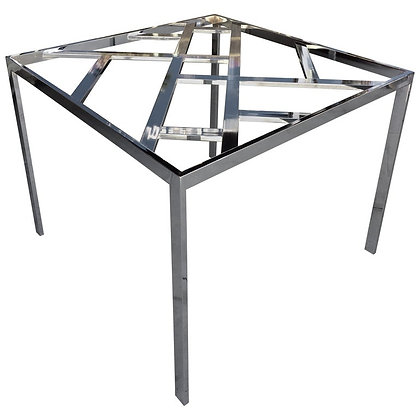 1970s Vintage Modern Chrome Dining or Game Table