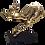 Thumbnail: Large Vintage Brass Jumping Reindeer Animal Sculpture