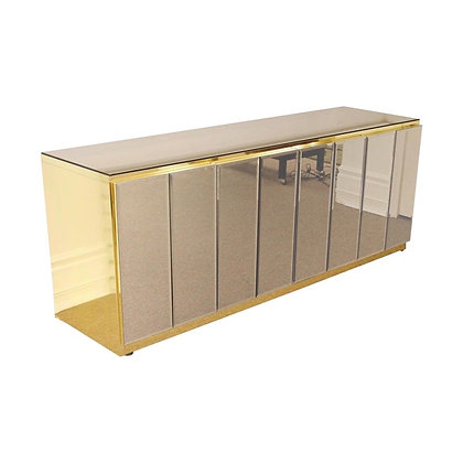 Vintage Ello Brass and Mirror Sideboard