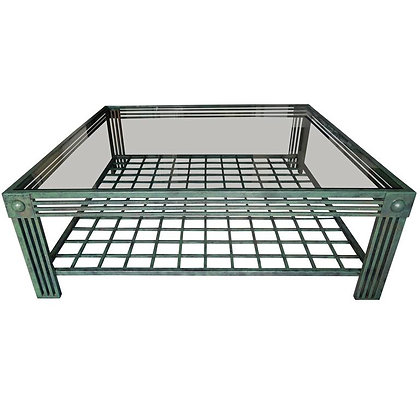 Post Modern Verdigris & Bronze Finish Coffee Table by Steve Chase