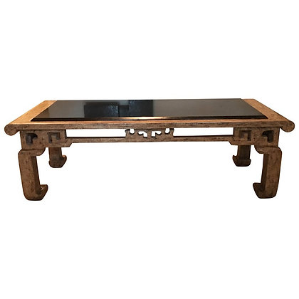 Custom Steve Chase Chinoiserie Granite Top Coffee Table