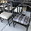 Thumbnail: Modern Chinoiserie Set for 8 Dining Chairs by Marge Carson in Tortoise Lacquer