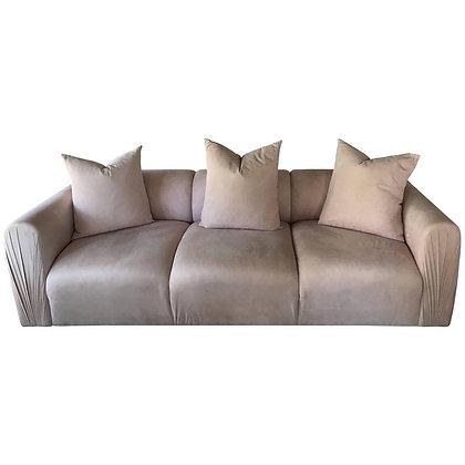 Blush Ultra Suede 80s Modern Sofa