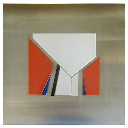 Jean Baier Metal & Woodwall Sculpture, 1971 Geneva