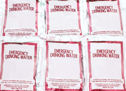Water Pouch (1 Case)