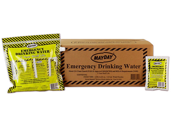 Mayday Pouch Water with Drink Container (Case of 12 6-Packs)