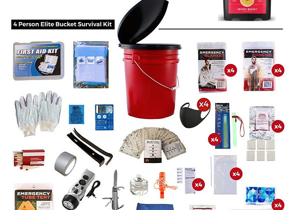 Family Preparedness Package With Food Storage