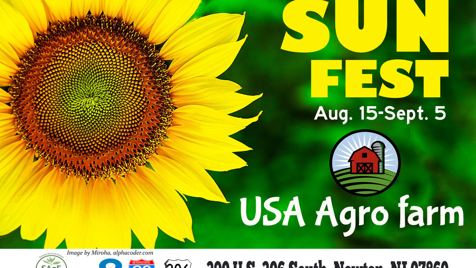 Welcome to SunFest '21 at USA Agro Farm: August 15-September 5, 2021