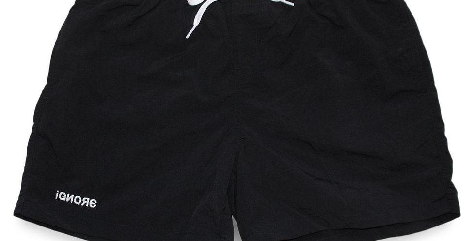 IGNORE SUPPLY - Swim- & Sportshorts - iGNORE Design - black