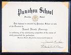 Punahou School Diploma