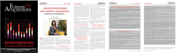 ALCa/Magazine Fusions & Acquisitions : Analyse stratégique pré-cession/acquisition