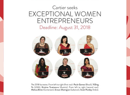 Let's support entrepreneurship : The Cartier Women's Initiative Awards