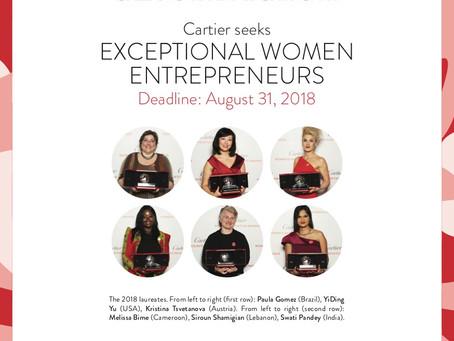 Let's support entrepreneurship : The Cartier Women's Initiative Awards