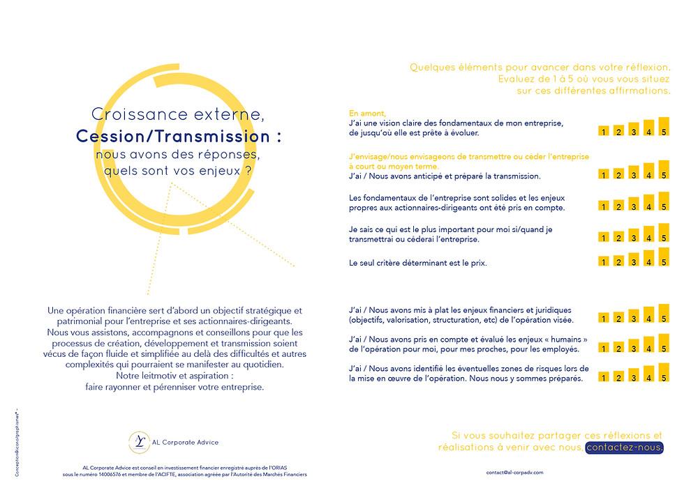 Cession Transmission Actionnaire-dirigeant Méthodologie (c)ALCorpAdv