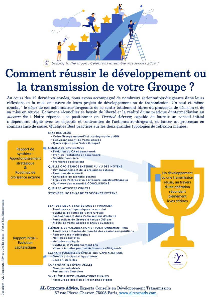ALCorporateAdvice Développement Transmission ScalingToTheMoon