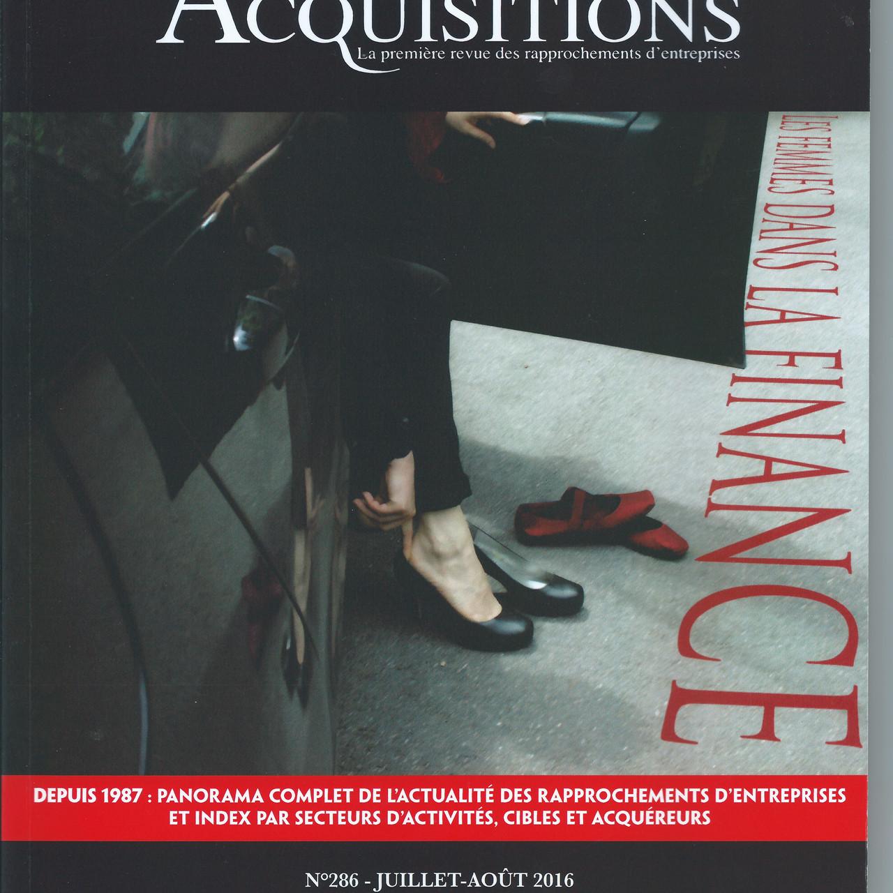 Fusions&Acquisitions - Juillet 2016