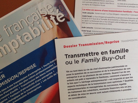Transmettre en famille ou le family buy-out