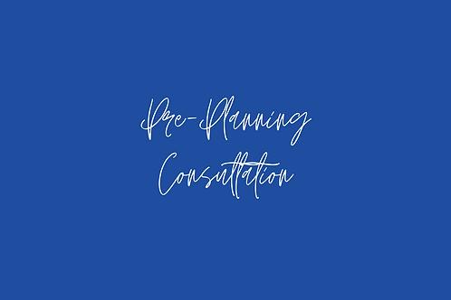 Pre-Planning Consultation