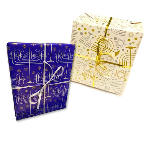 4-pack Brownie Gift Box w/Hanukkah Wrap