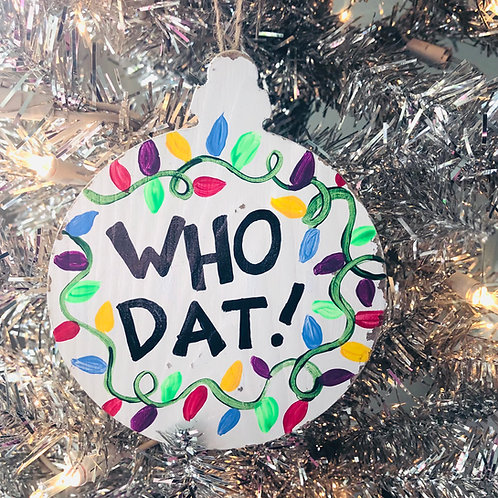 Who Dat Ornament
