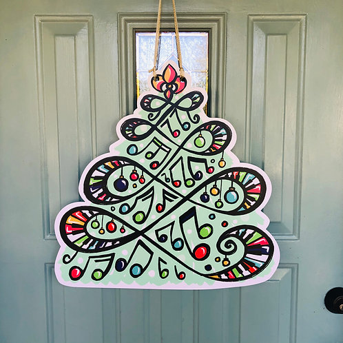 Jazzy Christmas Tree Door Hanger