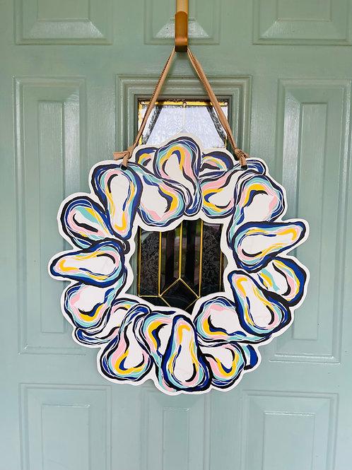 Oyster Wreath Door Hanger