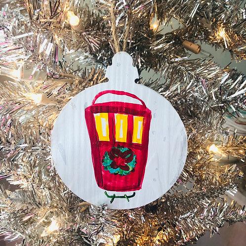 Red Streetcar Ornament