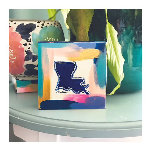 "6x6 Hand-painted ""Louisiana"" Canvas"