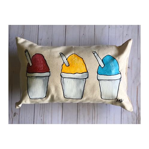 Hand-painted Snoball Pillow