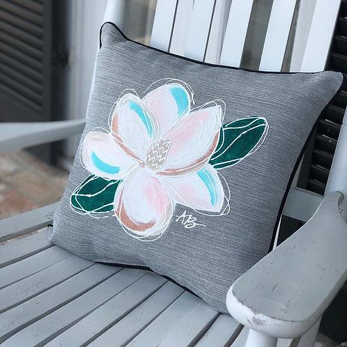 Outdoor Magnolia Pillow