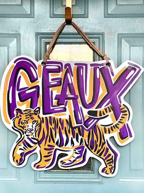 Geaux Tigers Door Hanger