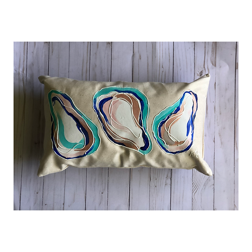 Hand-painted Oyster Pillow