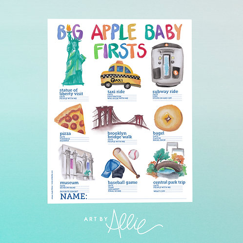 BIG APPLE BABY FIRSTS