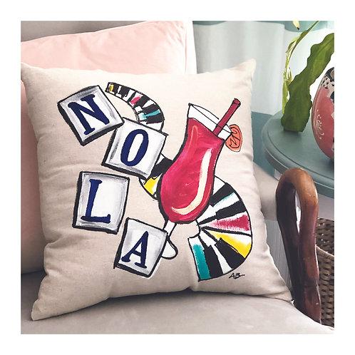 "Hand-painted ""NOLA Jazz"" Pillow"