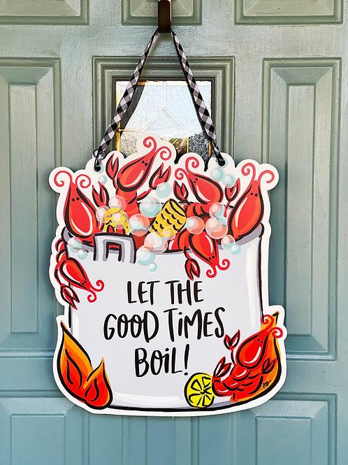 Crawfish Boil Door Hanger