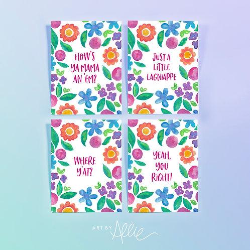 NOLA Sayings Notecard Set