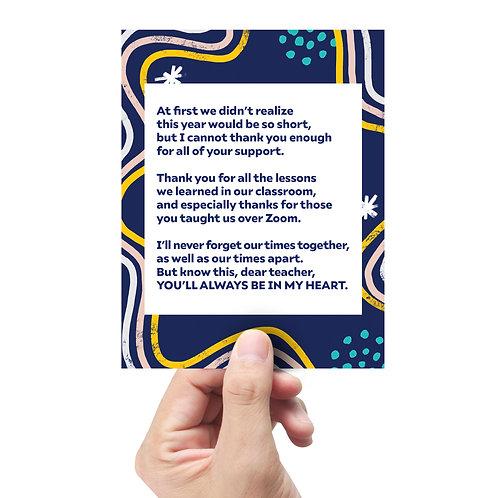 Teacher Appreciation Card Set of 3