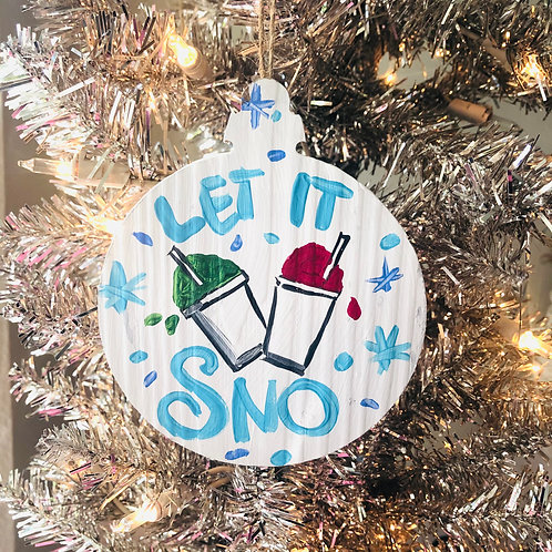 Let It Sno Ornament